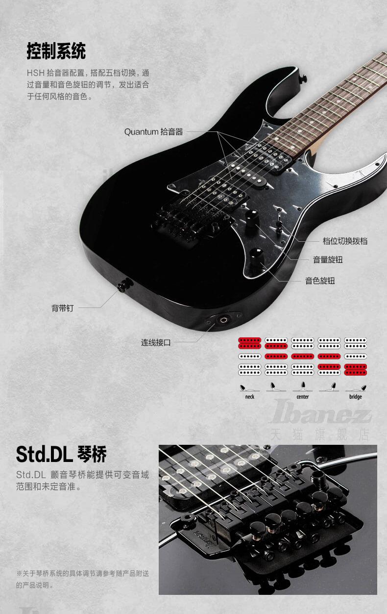Ibanez官方旗舰店 爱宾斯 依班娜 RG250电吉他桃花心木琴体印产 09